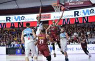 Legabasket LBA 6^giornata 2019-20: la Reyer Venezia impone alla Vanoli Cremona un ritmo lento e vince 67-55