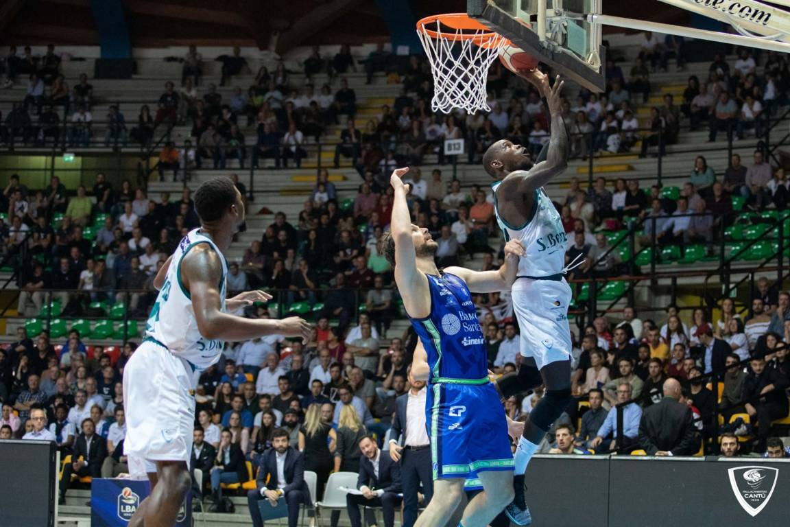 Legabasket LBA 6^giornata 2019-20: la Dinamo Sassari passa agevolmente a Desio vs l'Acqua San Bernardo Cantù 70-87
