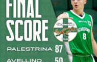 Serie B Old Wild West girone D 2019-20 3^giornata: Palestrina non concede chaces ad Avellino e vince 87-50