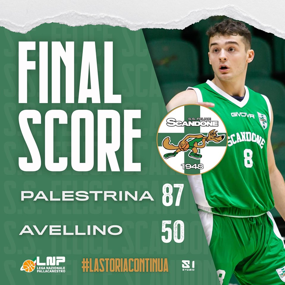 Serie B Old Wild West girone D 2019-20 3^giornata: Palestrina non concede chaces ad Avellino e vince 87-50