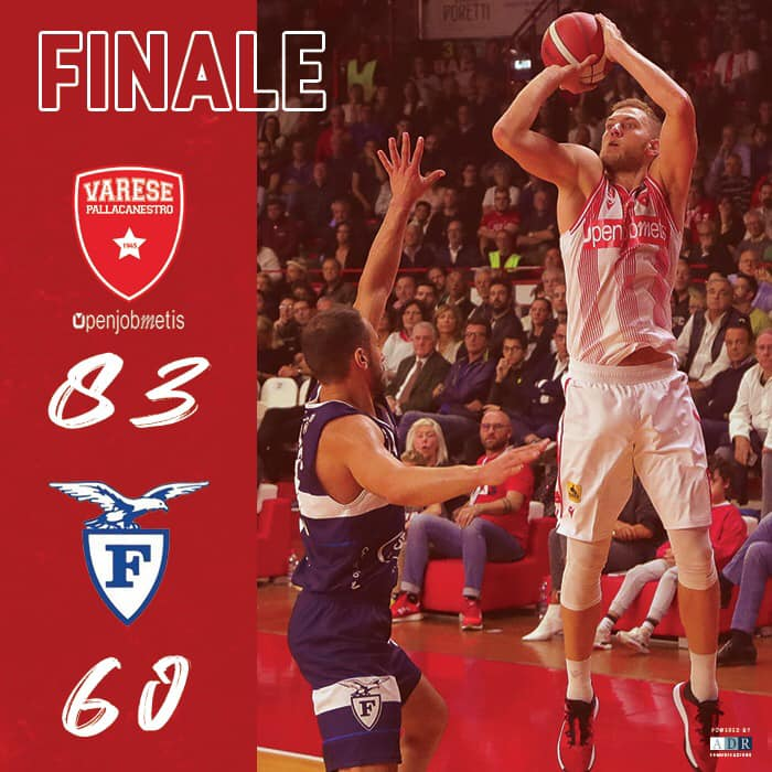 Legabasket LBA 3^giornata 2019-20: bis dell'Openjobmetis Varese che da 20 punti anche alla Pompea Fortitudo Bologna
