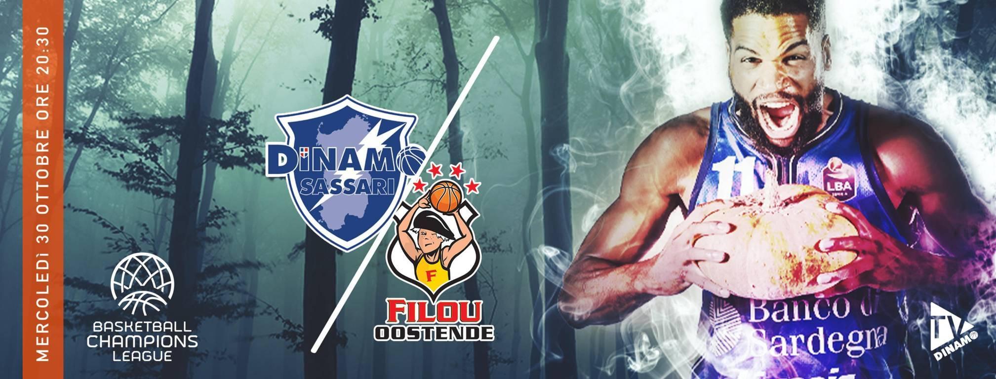 FIBA Basketball Champions League #Game3 2019-20: arriva a Sassari il Filou Oostende in un match da vincere