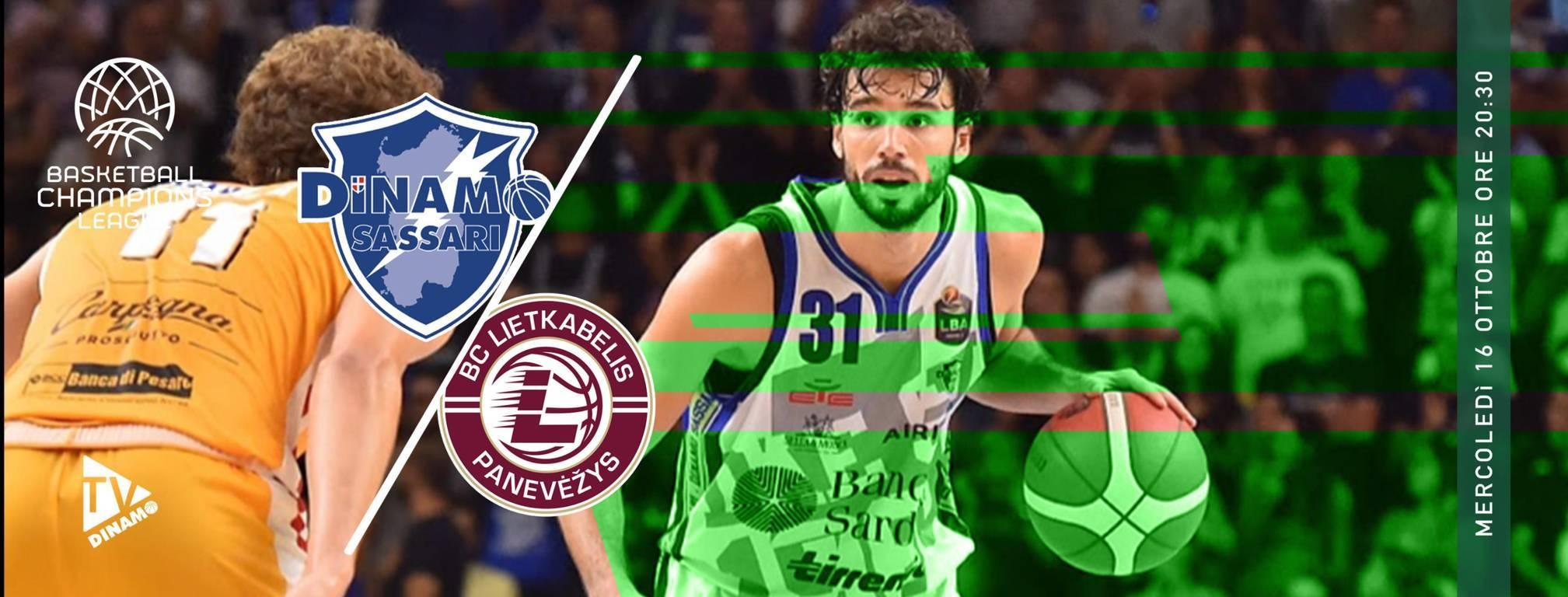FIBA Basketball Champions League #Round1 2019-20: la Dinamo Sassari debutta in casa vs il BC Lietkabelis