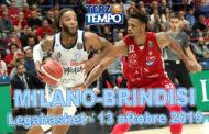 Legabasket LBA 4^giornata 2019-20: riviviamo l'impresa dell'Happy Casa Brindisi al Forum di Assago in Terzo Tempo