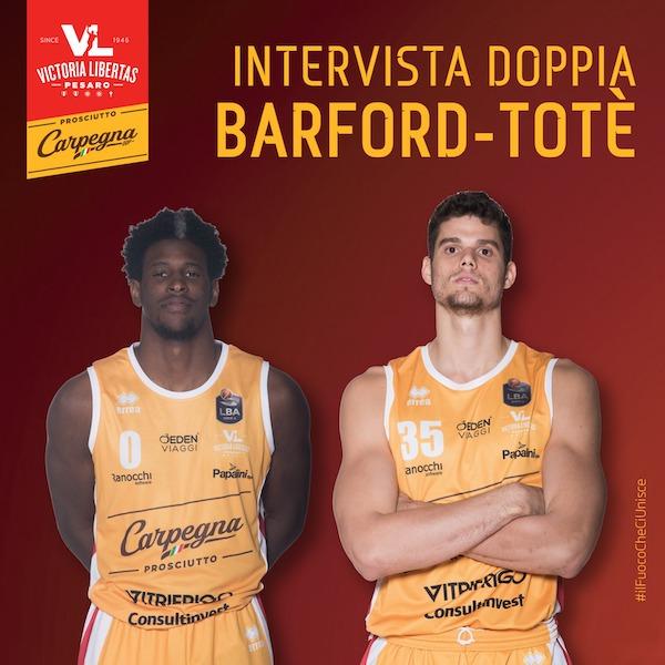 Interviste 2019: è la volta di Jaylen Barford vs Leo Totè della Carpegna Prosciutto Pesaro