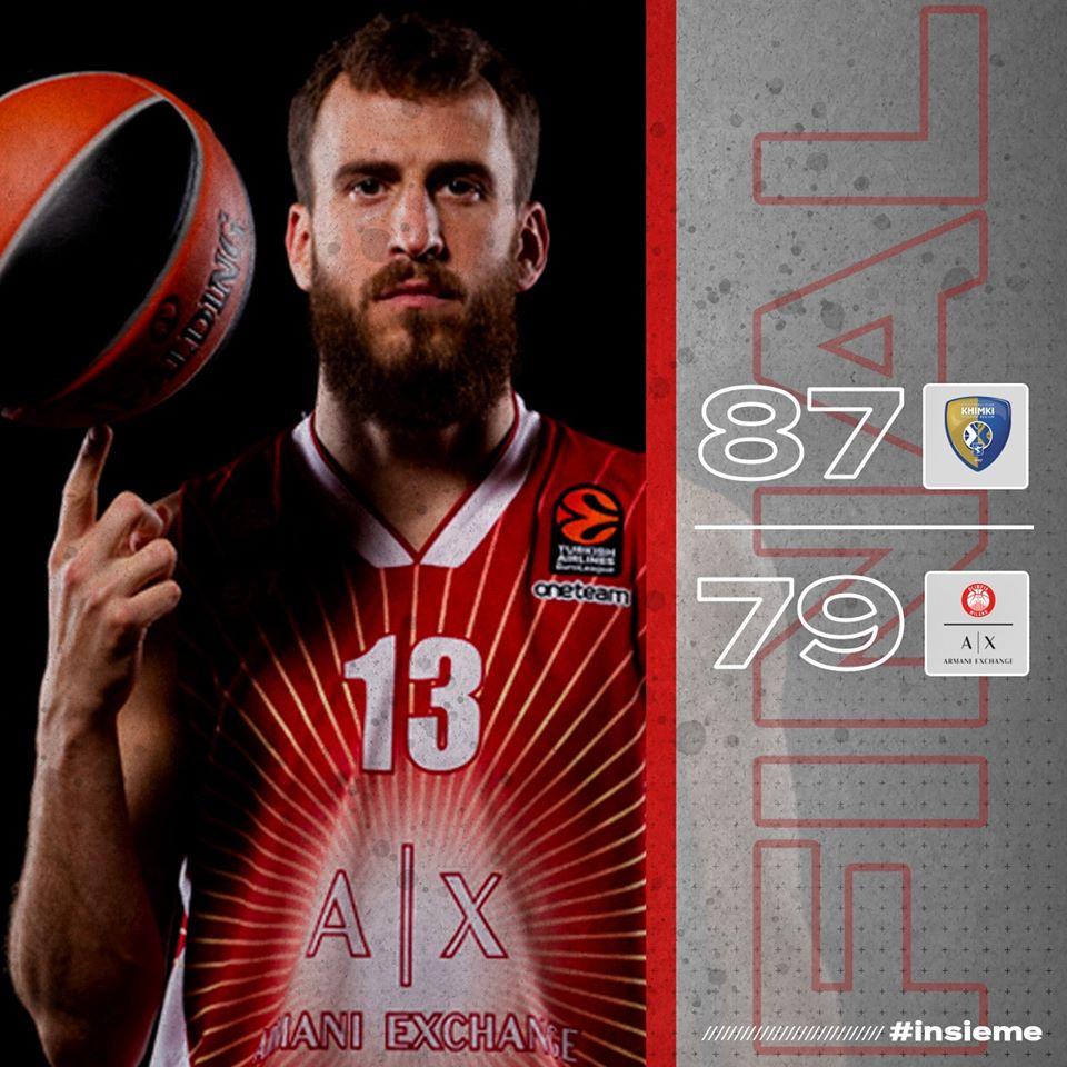 Turkish Airlines Euroleague #Round8 2019-20: battuta d'arresto per l'Olimpia a Mosca punita da Shved e da Jerebko