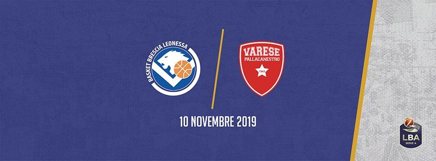 Legabasket LBA 8^giornata 2019-20: a Brescia un derby lombardo molto appetitoso tra Germani Basket ed Openjobmetis Varese