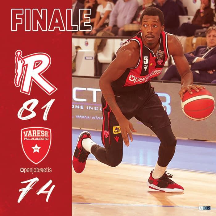 Legabasket LBA 10^andata 2019-20: la Grissin Bon Reggio Emilia di Fontecchio batte Varese e la supera in classifica.