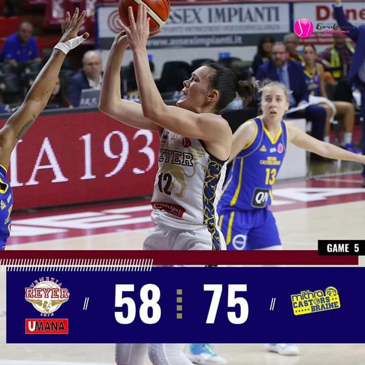 EuroLeague Women #Round5 2019-20: crollo nel 4° periodo per l'Umana Reyer Venezia vs le belghe del Castors Braine
