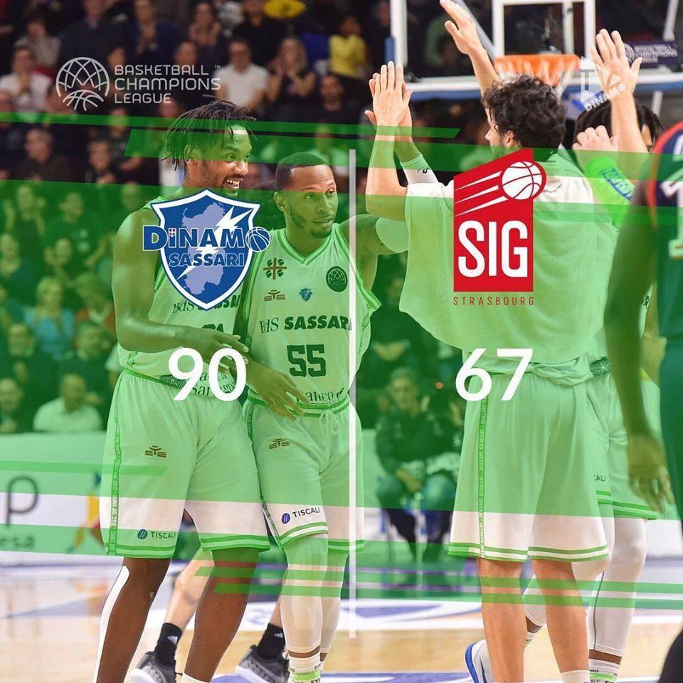 Basketball Champions League #Game5 2019-20: impetuosa Dinamo Sassari che rifila 23 punti di scarto allo SIG Strasbourg