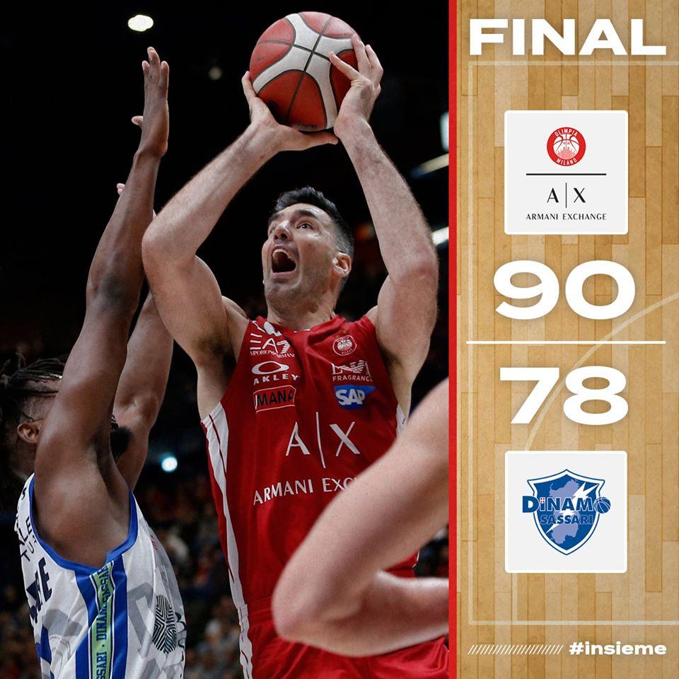 Legabasket LBA 10^andata 2019-20: atmosfera da playoff al Forum, vince l'Olimpia su una Sassari tignosa