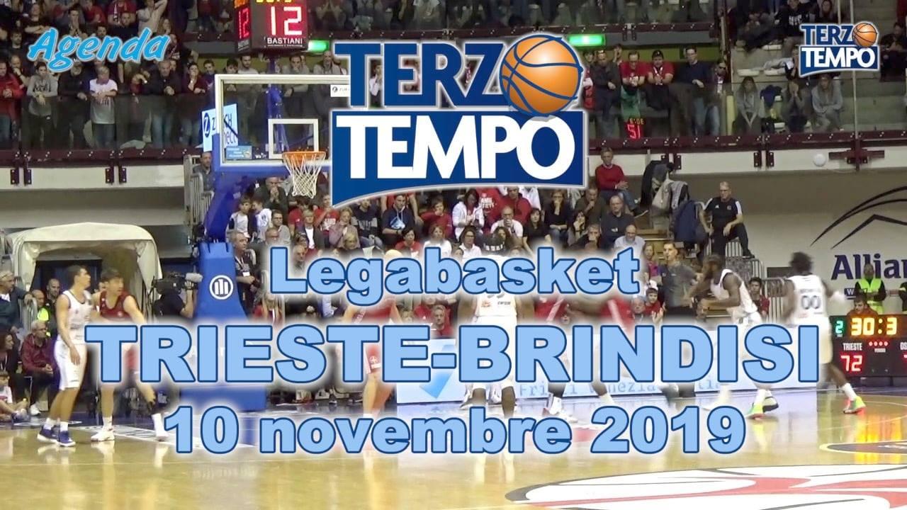 Legabasket LBA 8^giornata 2019-20: riviviamo la bella vittoria di Brindisi all'Allianz Dome di Trieste in Terzo Tempo