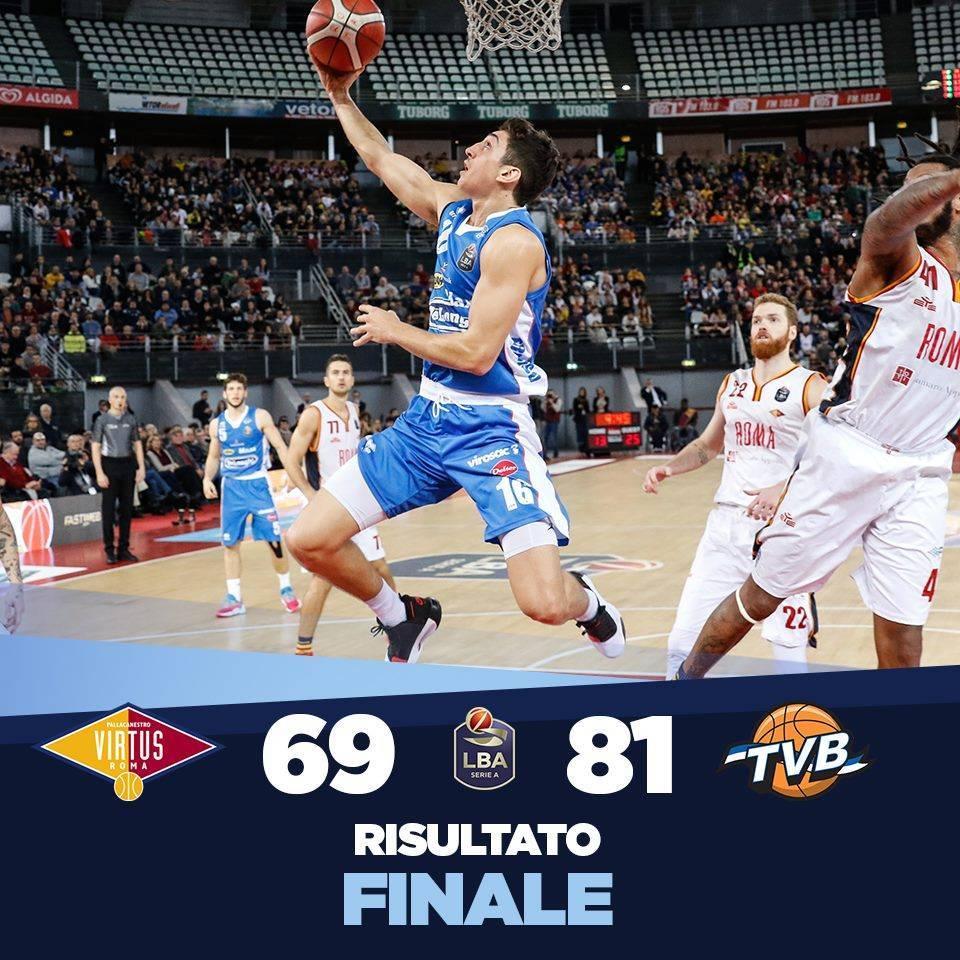 Legabasket LBA 10^andata 2019-20: una Virtus Roma stanca di testa paga dazio in casa vs una Dé Longhi Treviso quasi perfetta per 69-81