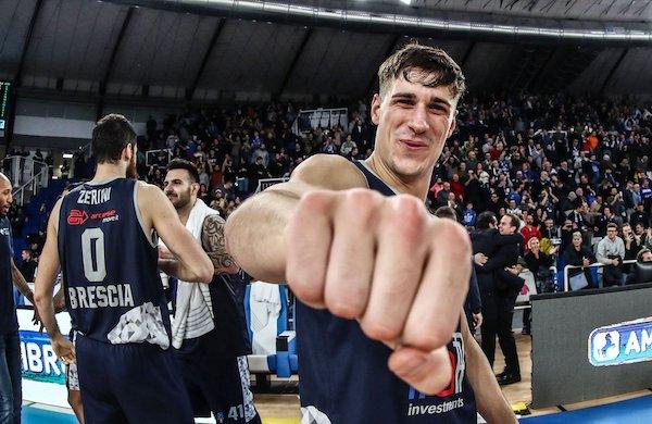 LBA-Legabasket 14^andata 2019-20: cazzotto della Germani Basket Brescia a casa della Virtus Roma