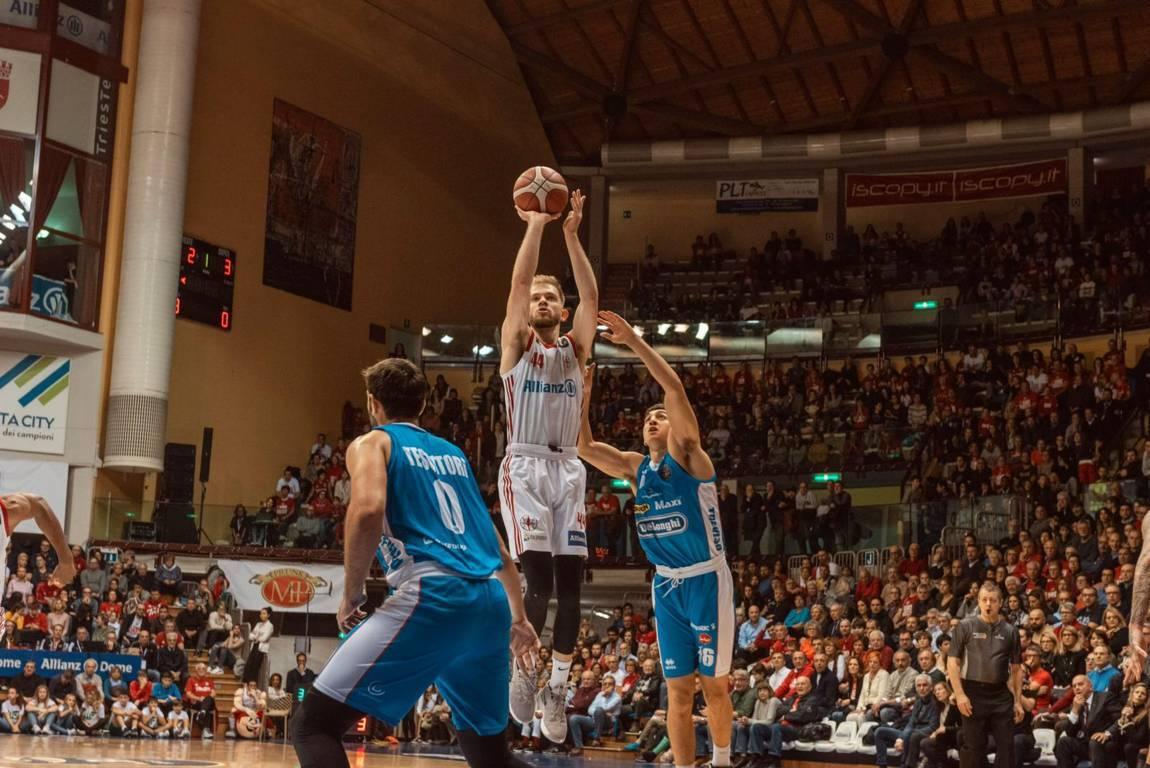 Legabasket LBA 11^andata 2019-20: il debutto di Allianz come sponsor porta bene a Trieste che rimonta e vince su Treviso un match perso