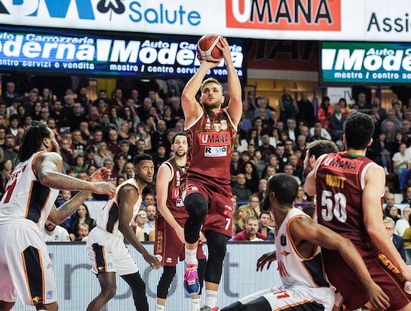 LBA Legabasket 15^andata 2019-20: Daye dà la vittoria all'Umana Reyer Venezia su una grande Virtus Roma