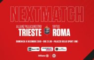 Legabasket LBA 12^andata 2019-20: la Virtus Roma riceve una gasatissima Allianz Trieste e deve reagire dopo Varese