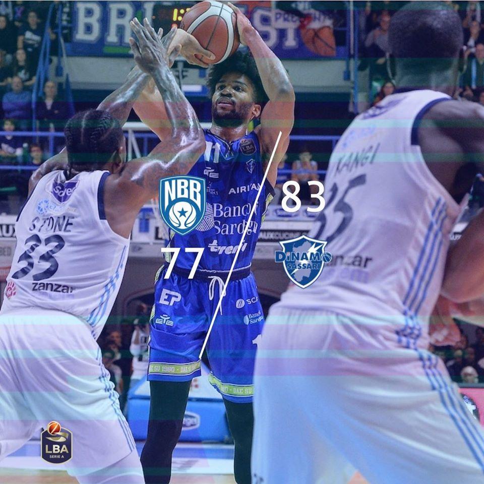 Legabasket LBA 12^andata 2019-20: il #BigMatch per il 2° posto in classifica è della Dinamo Sassari che batte Brindisi in casa 77-83
