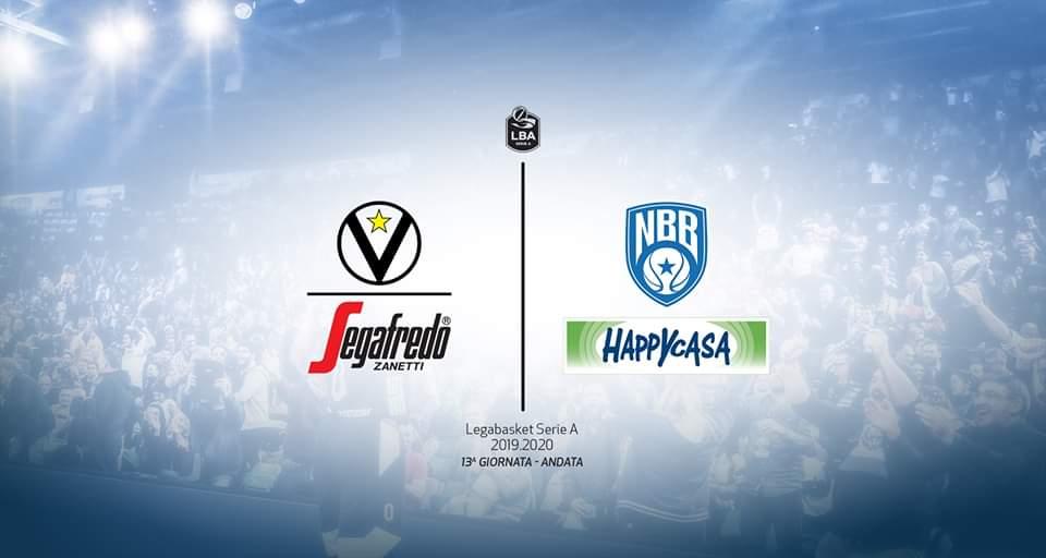 Legabasket LBA 13^andata 2019-20: la capolista non più invitta Virtus Bologna riceve una temibile Happy Casa Brindisi nel 2° anticipo del sabato