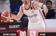LBA Legabasket 15^andata 2019-20: la Dolomiti Energia Trentino ci mette un quarto per avere ragione di un'Allianz Trieste deludente