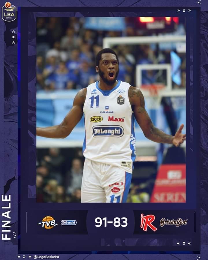 Legabasket LBA 12^andata 2019-20: la Dé Longhi Treviso parte piano poi supera di netto la Grissin Bon Reggio Emilia