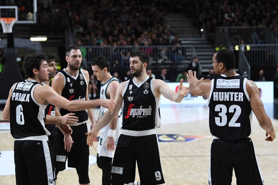 Legabasket LBA 11^andata 2019-20: la Virtus Bologna fa 10 su 10 sconfitta anche Cantù 89-70