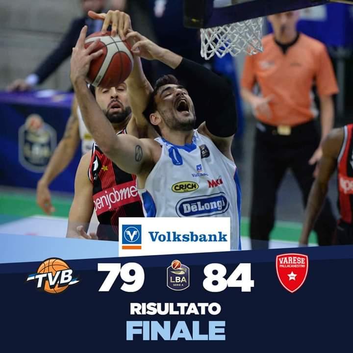 LBA Legabasket 17^andata 2019-20: la Dè Longhi Treviso scivola in casa vs una Openjobmetis Varese solida e determinata