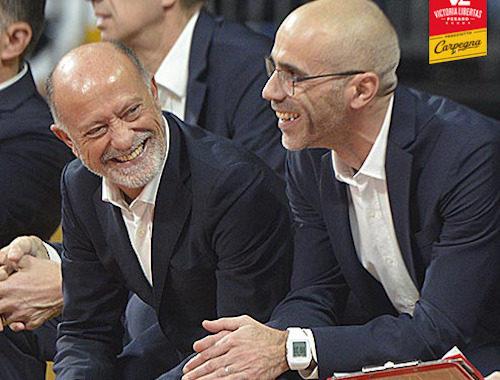 Interviste 2019: ecco Giancarlo Sacco e Paolo Calbini, coach e assistant coach della Carpegna Prosciutto Pesaro