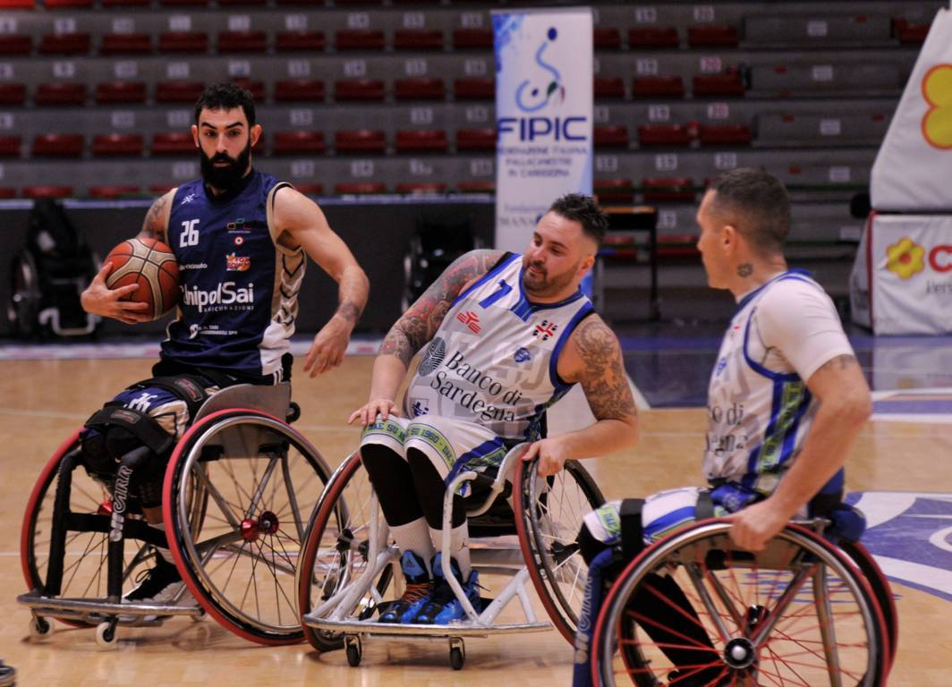 Basket in carrozzina #SerieAFipic 1^ritorno 2019-20: riscossa UnipolSai Briantea84 che batte in casa la Dinamo Lab Sassari 66-64 ma che sofferenza!