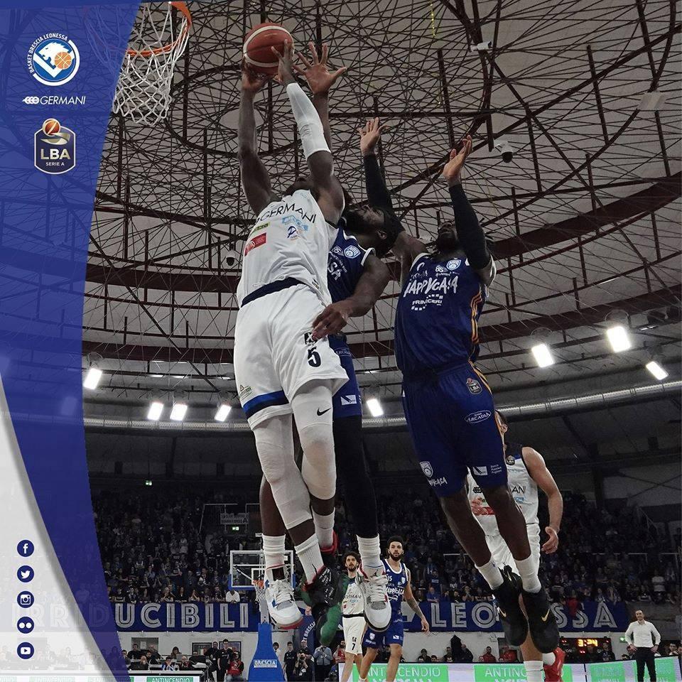 LBA Legabasket 3^ritorno 2019-20: la Germani Basket Brescia cade in casa vs l'Happy Casa Brindisi in un match importante in chiave playoffs