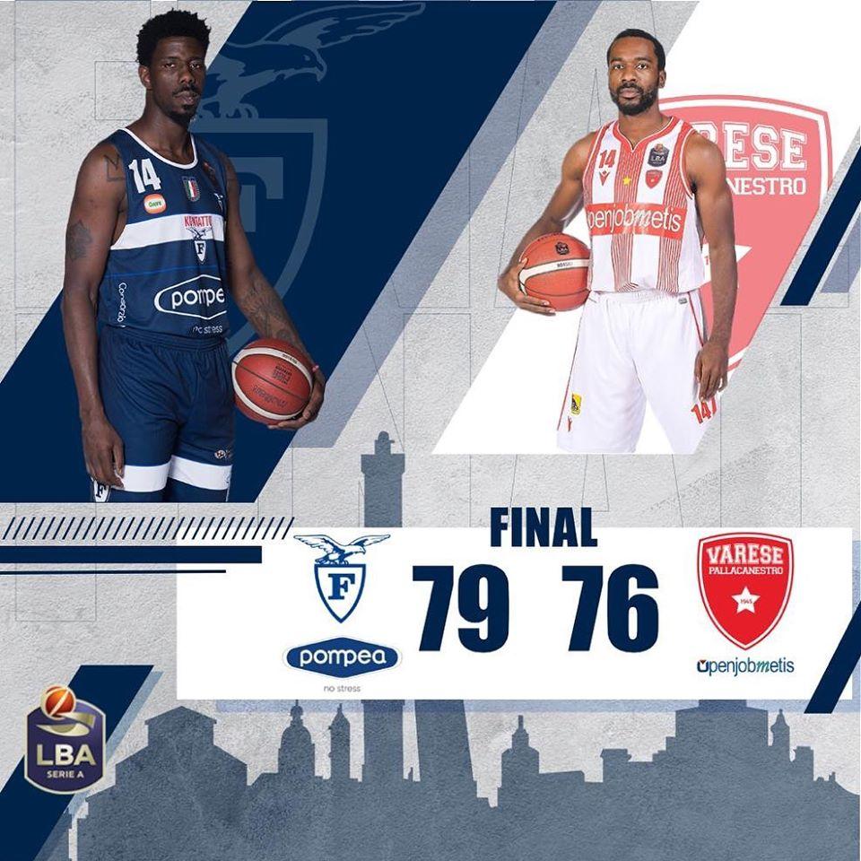 LBA Legabasket 3^ritorno 2019-20: la Pompea Fortitudo Bologna batte l'Openjobmetis Varese ma il pensiero è tutto a Kobe Bryant