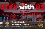 LBA Legabasket 3^ritorno 2019-20: una vera e propria sfida salvezza domani tra OriOra Pistoia e Dé Longhi Treviso