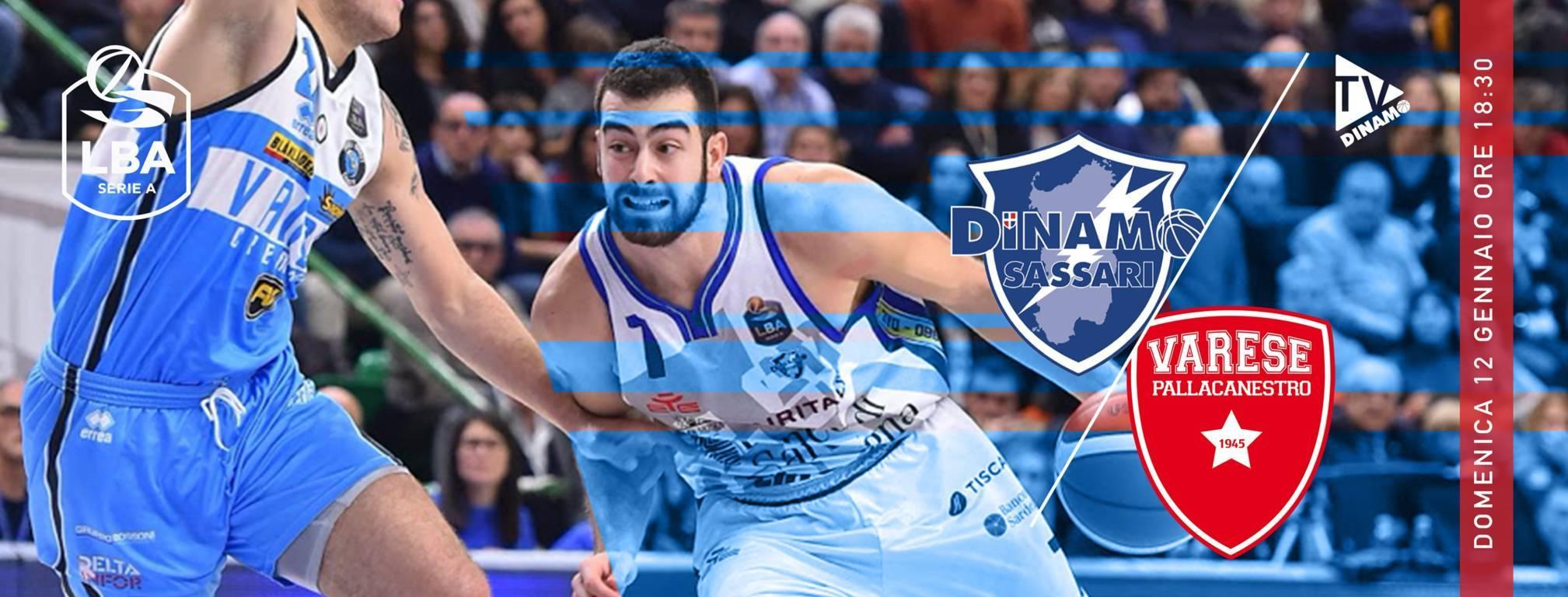 LBA Legabasket 1^ritorno 2019-20: una Dinamo Sassari a caccia del primato riceve l'Openjobmetis Varese