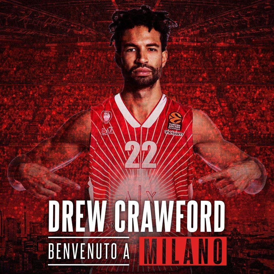 Turkish Airlines Euroleague Mercato 2019-20: colpo dell'Olimpia Milano che aggiunge al suo roster Andrew Crawford