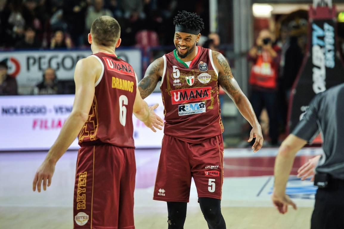 LBA Legabasket 2^ritorno 2019-20: la Reyer Venezia regola la Pompea Fortitudo Bologna ma che fatica!