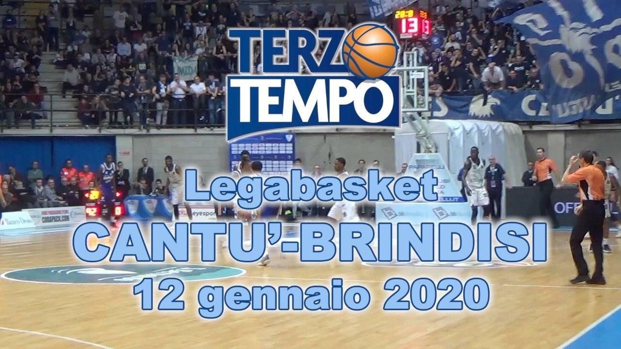 LBA Legabasket 1^ritorno 2019-20: riviviamo l'emozionante vittoria dell'Happy Casa Brindisi all'OT vs Cantù per 92-93 in Terzo Tempo