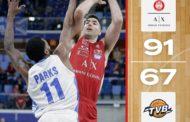 LBA Legabasket 1^ritorno 2019-20: la Dè Longhi Treviso dura 30 minuti, poi finisce la benzina e l'Olimpia Milano vince in scioltezza