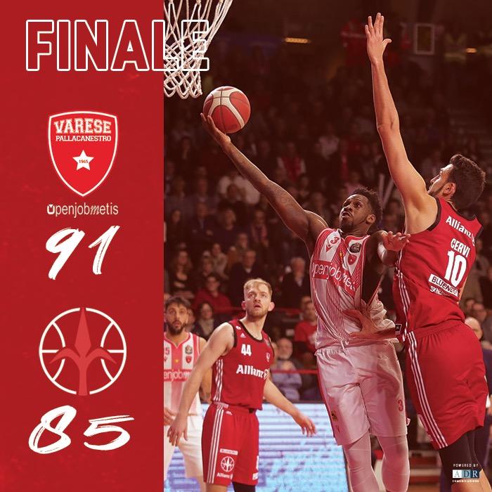 LBA Legabasket 2^ritorno 2019-20: a Masnago vince la voglia di Varese, Trieste subisce nel terzo periodo e s'arrende