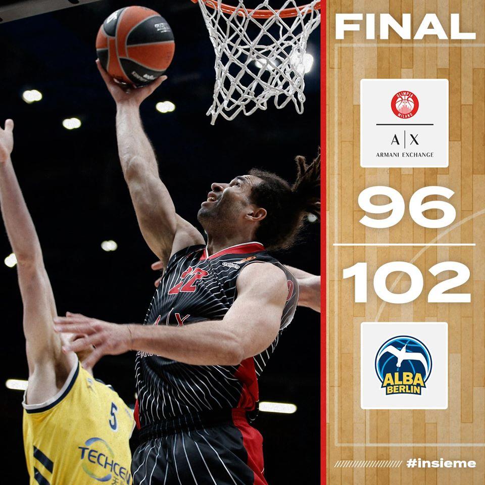 Turkish Airlines Euroleague #Round23 2019-20: no difesa no vittoria, l'Alba espugna il Forum e complica terribilmente la conquista dei playoff dell'Olimpia Milano