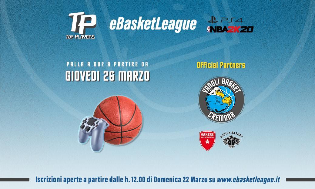 LBA Legabasket 2019-20: ai tempi del COVID-19 nasce la #eBasketLeague con Vanoli Cremona, Openjobmetis Varese e Dolomiti Energia Trentino