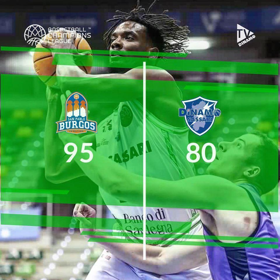 Basketball Champions League #Roundof16 #Game2 2019-20: termina a Burgos la stagione europea di una Dinamo Sassari in difficoltà
