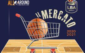 Legabasket LBA Mercato 2020-21: la tabella del mercato del nuovo campionato della LBA