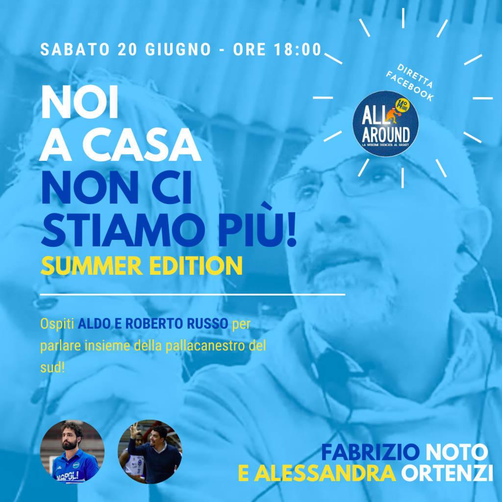 Storie di Basket 2019-20: sabato pomeriggio sempre con Fabrizio Noto ed Ale Ortenzi e con la Russo's Connection!