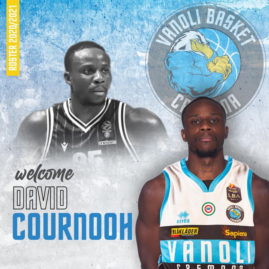 LBA Legabasket Mercato 2020-21: la Vanoli Cremona ufficializza David Cournooh in uscita dalle V Nere