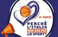 Storie di Basket 2020-21: perchè l'Italia non ama lo sport? Seconda parte con Matteo Cardinali ed il coadiuvo di Werther Pedrazzi