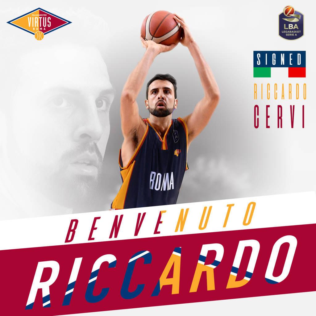 LBA Legabasket Mercato 2020-21: per la Virtus Roma ecco un Riccardo Cervi che vuole riscattarsi risalendo la china