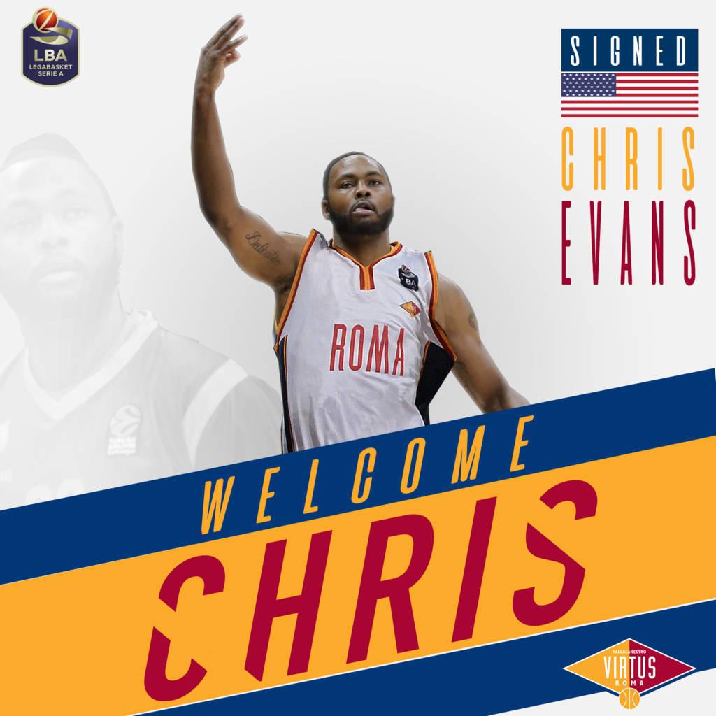 LBA Legabasket Mercato 2020-21: un'ala navigata ed esperta come Chris Evans alla Virtus Roma