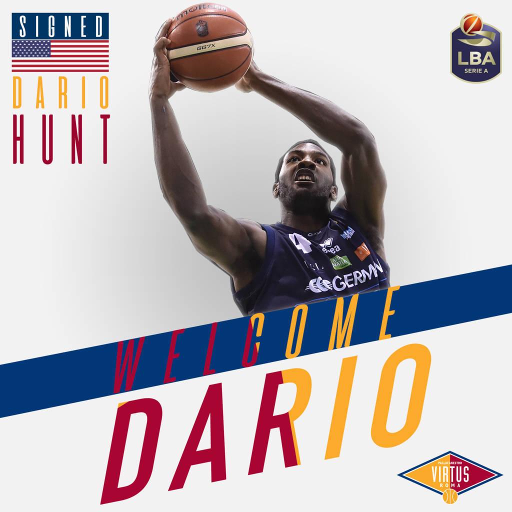 LBA Legabasket Mercato 2020-21: anche la Virtus Roma chiude il proprio roster con un centro esperto come Dario Hunt