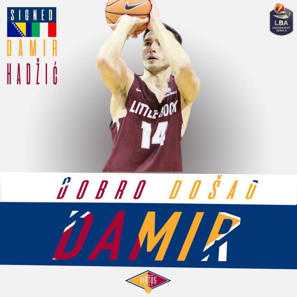 LBA Legabasket Mercato 2020-21: la gioventù e la voglia di mostrarsi al grande pubblico di Damir Hadzic per la Virtus Roma