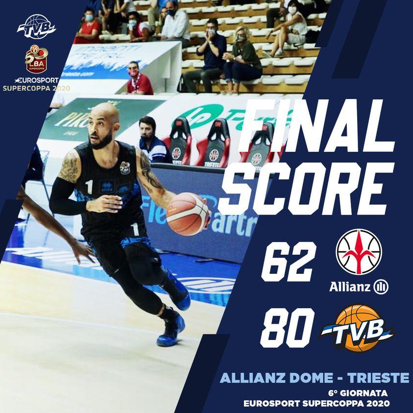 Eurosport LBA Supercoppa 2020: una De' Longhi agguerrita spazza via Trieste e si prende il secondo posto del girone C
